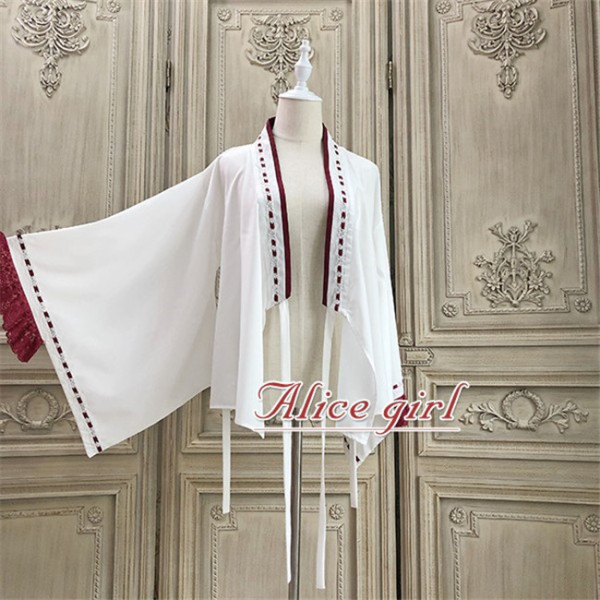 Alice Girl ~Lucky Cat~ Kimono Style Lolita Blouse/Coat -Pre-order White Blouse Size S - In Stock