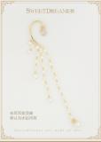 Stars Fall Night~Constellation Pendant Pearl Tassel Earrings
