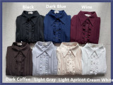 Little Dipper Long Sleeves Sweet Wine Lolita Shirt - Pre-order