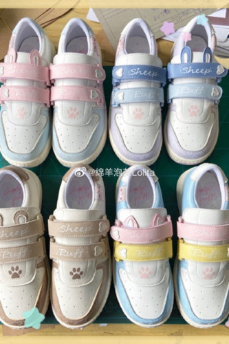 Sheep Puff ~Velcro Little Ears~ Sweet Sneaker -Pre-order