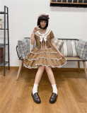Little Dipper ~Rainbow Navy Sailor Collar Lolita Top + Skirt set -Pre-order