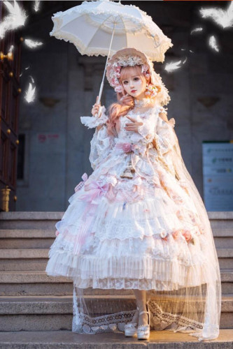 Long Ears & Sharp Ears ~The Days of Love&Time Luxury Lolita OP -Custom Tailor Available Pre-order