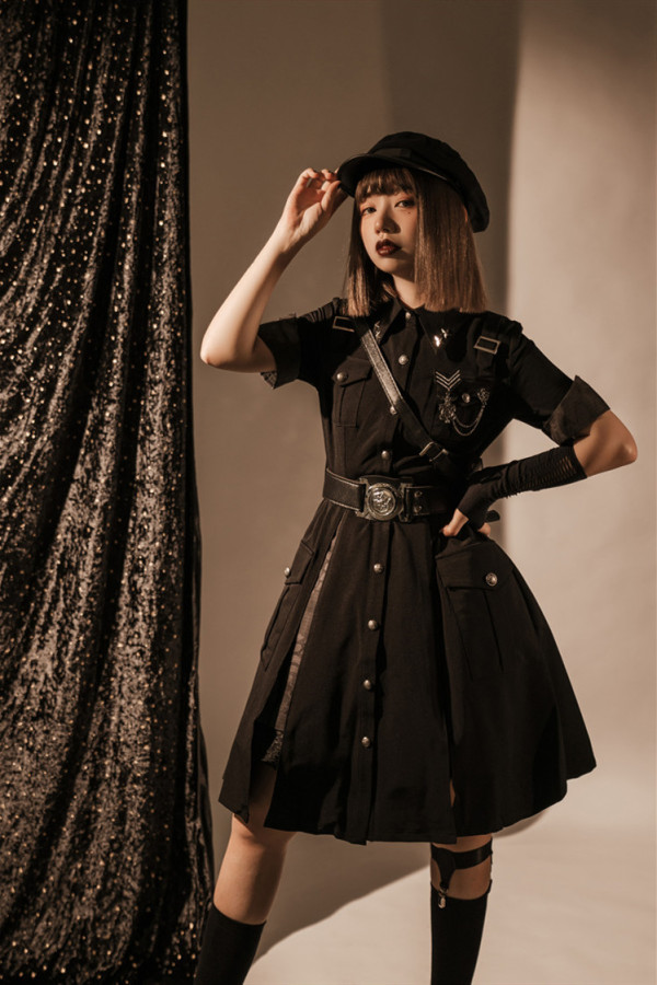 Your Highness ~Dark Gothic Military Lolita OP