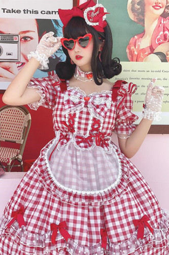 Diamond Honey ~Sweet Gingham Lolita OP -Pre-order