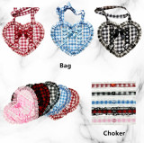 Diamond Honey ~Sweet Gingham Lolita OP -Ready Made Red Black Size L - In Stock