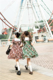Vcastle ~Chocolate Bear ~Sailor Style Sweet Lolita OP -Ready Made Size L - In Stock