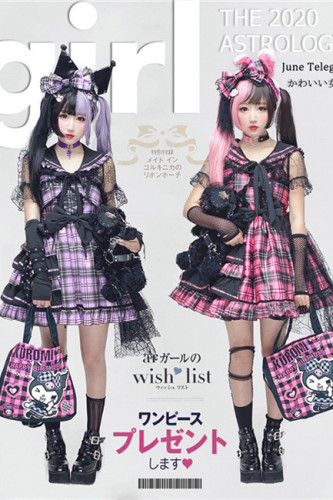 Diamond Honey ~Sweet Gingham Lolita Dress Fullset