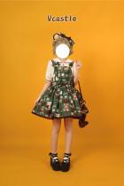 Vcastle ~Chocolate Bear ~Sailor Style Sweet Lolita Salopette -Pre-order