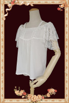 Infanta ~Sweet Chiffon Lace Lolita Blouse -Ready Made