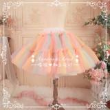AA lolita fashion -Rainbow Organza Lolita Petticoat -Custom Tailor