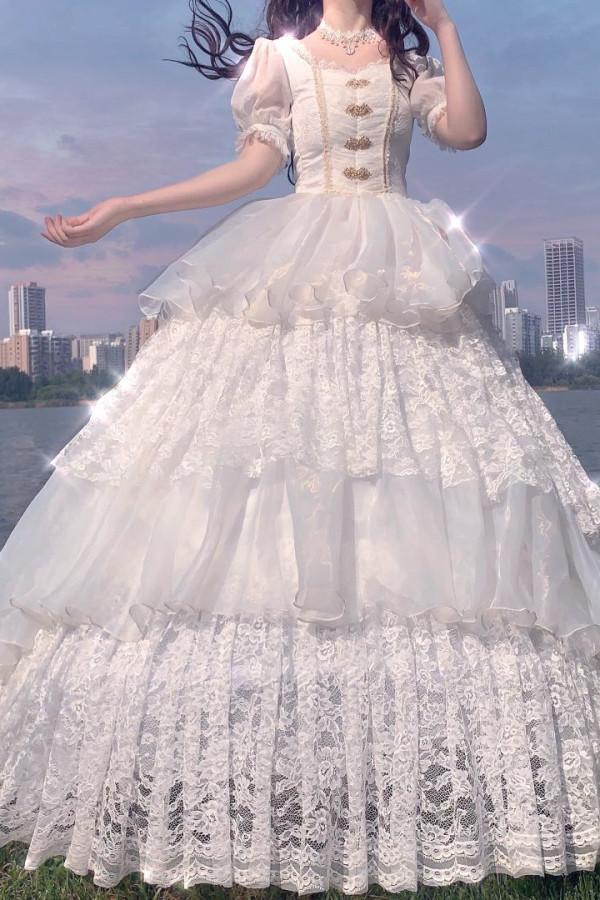 Neverland Lolita/Souffle-song Lolita ~ Elegant Normal Waist Lolita OP -Pre-order