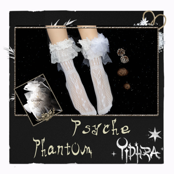 Yidhra Lolita ~Psyche Phantom~ Sweet Lolita Short Socks