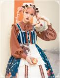 Distant Christmas Front Open Lolita JSK/Blouse