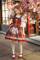 Prophecy Poem~ Vintage Lolita Jumper Dress With Back Open Design -Pre-order