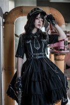 Military Officer Short Sleeves Lolita OP -Pre-order