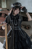 Military Officer Short Sleeves Lolita OP - In Stock