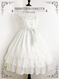 The Whisper of Stars~ Gold Stamping Constellation Lolita Slight High Waist Lolita JSK -Pre-order