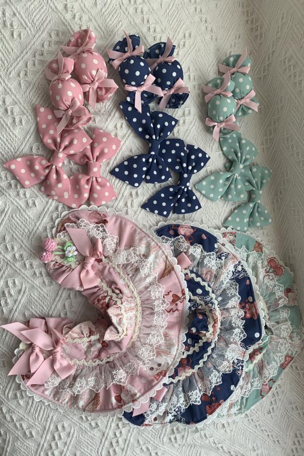 August Maiden ~Fancy Strawberry Ice Cream Cat Sweet Lolita Accessories -Pre-order