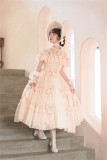 Rosebush~ Vintage Lolita OP Dress+Cape Set -Pre-order