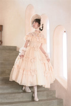 Rosebush~ Vintage Lolita OP Dress+Cape Set -Pre-order