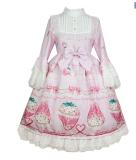 Snow Strawberry~ Sweet Hime Sleeves Lolita OP