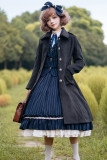 Rose Humanoid~ Vintage Wool Coat With Cape -Ready Made