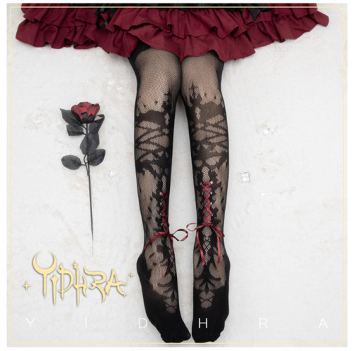 Yidhra Lolita ~Forest of Thorns Sleeping Beauty~ Summer Lolita Tights