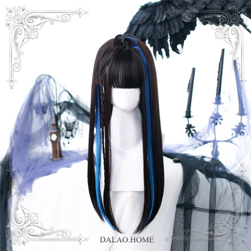 Dalao Home ~Devil Rock Lolita Long Straight Wigs