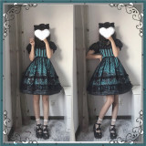 Souffle Song Witch Kitty Halloween Lolita JSK -Pre-order