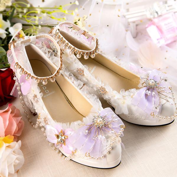 Tea Party Bows Wedding Lolita Heels Shoes