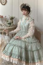 Alice Girl ~When Camellia Blossoms Lolita JSK + Overskirt -Pre-order