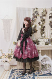 The Kittens In The Frame~ Sweet Lolita Printed JSK Normal Waist