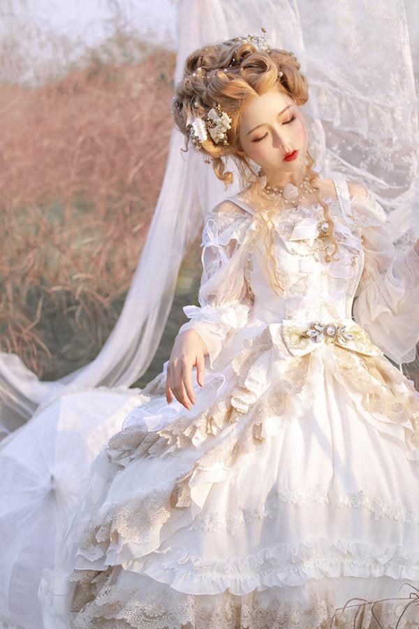 Morning Dew Tea Party Lolita JSK -Ready MADE