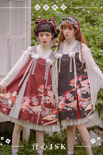 NyaNya Lolita Boutique ~Camellia Ballad Babydoll Lolita JSK -Ready Made