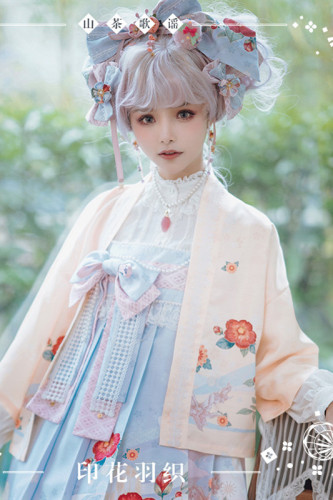 NyaNya Lolita Boutique ~Camellia Ballad Lolita Short Haori Coat -Ready Made