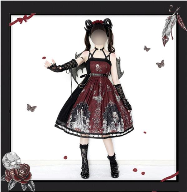 SIKA Lolita~ Izanami Dark Gothic Lolita JSK~ Pre-order