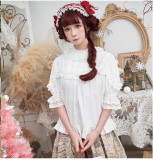 Blooming Flowers Chiffon Lace Lolita Blouse