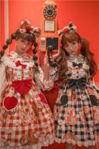 Tommy Bear ~Little Bear Picnic Lolita High Waist JSK