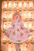 Tommy Bear ~Little Bear Picnic Wa Lolita Set