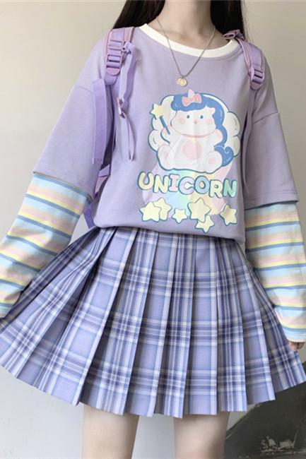 Unicorn  Sweet Round Collar Hoodie