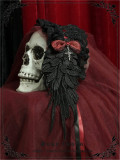 Demon Wings~ Gothic Lolita Accessories Black+Black Bowknot - In Stock