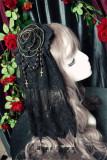 Dark Night Rose~ Flower Balls Hairclip/Brooch  2 Uses Lolita Accessories