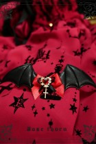 Little Bat Cross Hairclip~ Lolita Accessories
