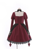 Tommy Bear ~To Alice~ Rose Cross Lace Front-open Lolita OP -Pre-order
