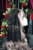 Dark Night Rose~ Flower Balls Hairclip/Brooch  2 Uses Lolita Accessories