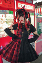 Tommy Bear ~To Alice~ Magic Trainee Plaid  Lolita JSK -Pre-order