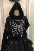 The Butterfly Effect ~All-match Knit Blouse/Hoodie -Ready Made