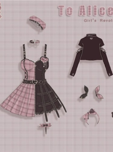 Tommy Bear ~To Alice~ Magic Trainee Plaid  Lolita Accessories -Pre-order