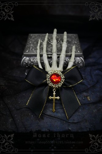 Devil's Claw~ Skeleton Hand Cross Dark Halloween Hairclip 2 Uses Lolita Accessories