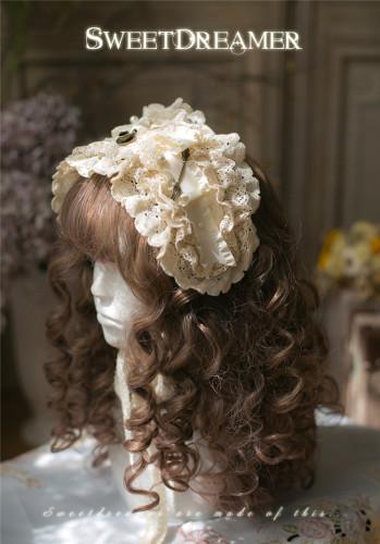 SweetDreamer~Marianna ~Vintage Lace Bow Lolita Headband